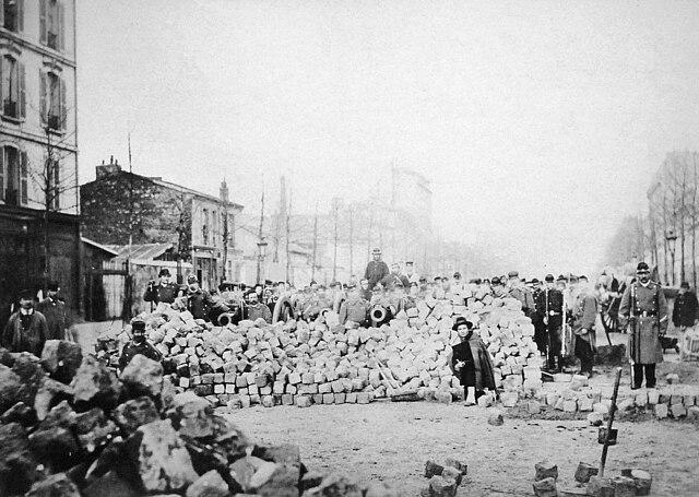 Commune de Paris barricade, Rue d'Allemagne (1871) - Avenue Jean-Jaurès