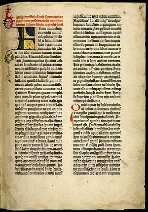 The beginning of the Gutenberg Bible: Volume 1...
