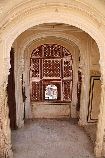 Hawa Mahal (Palace of Winds) in Jaipur. Inside.