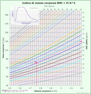 English: Body mass index, BMI, body size, body...