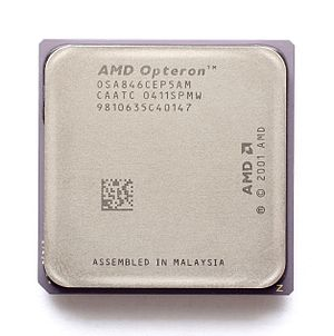 English: CPU AMD Opteron 846 Sledgehammer