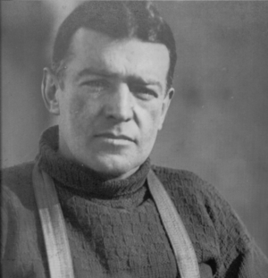 English: Sir Ernest Shackleton taken during th...