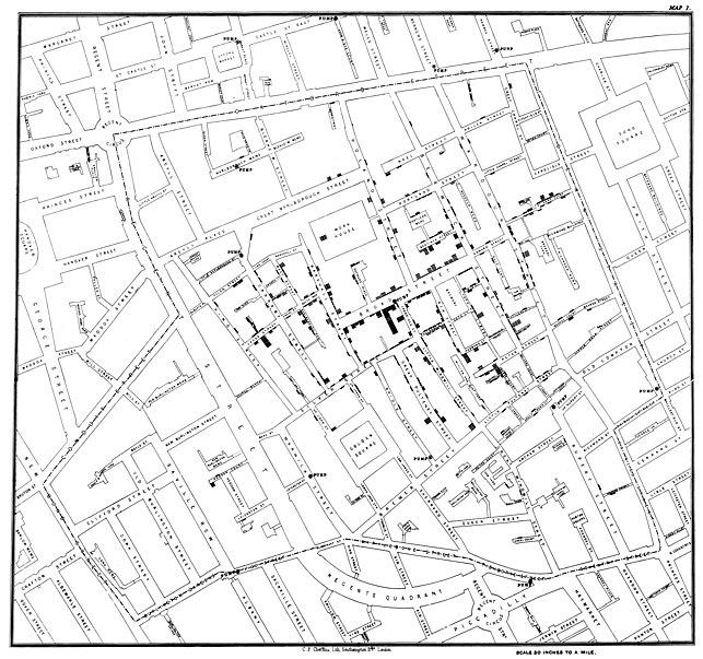 John Snow Cholera Map from Wikipedia