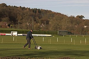 English: Sports Field Various field sports are...