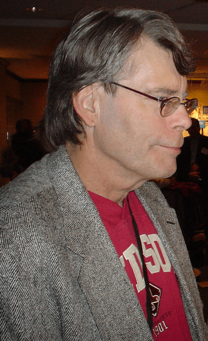 Stephen King at the Harvard Book Store.