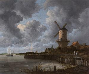 Jacob van Ruisdael, The Windmill at Wijk (1670)