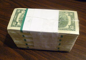 1000 United States two-dollar bills in shrink ...