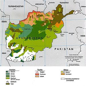 Ethnolinguistic groups of Afghanistan in 1997