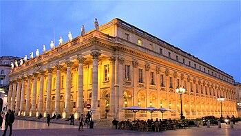 Français : Grand Théâtre, vue de nuit, Bordeau...