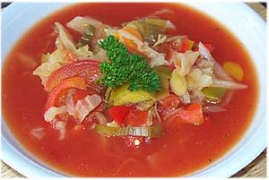 Cabbage Soup for the cabbage soup diet, based ...