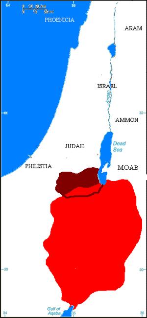 The Edomite kingdom at its peak, Busaira in Ta...