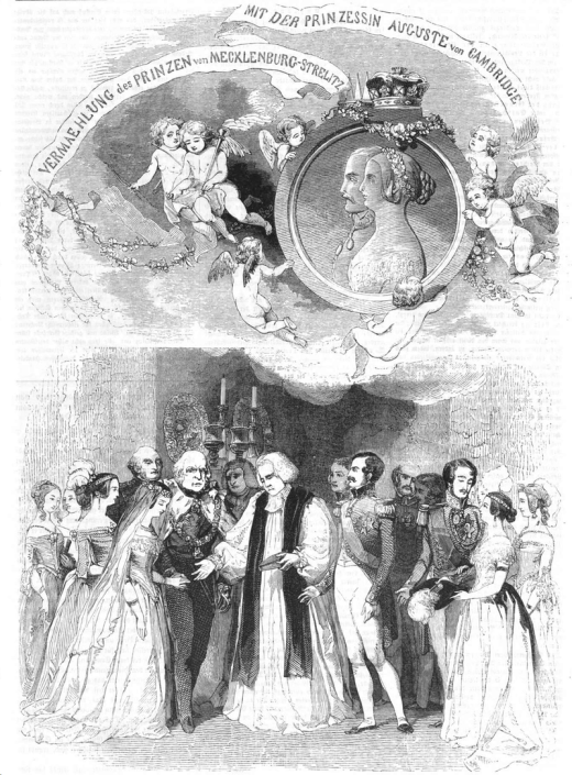The marriage of Friedrich Wilhelm and Augusta, source: Wikipedia