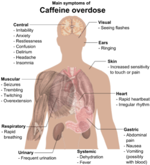 Main symptoms of Caffeine overdose (See also W...