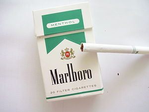 A pack of Marlboro Menthol Golds