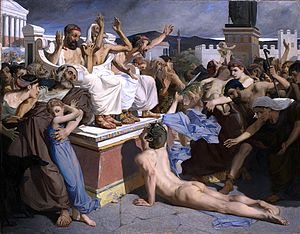 English: Painting of Pheidippides.