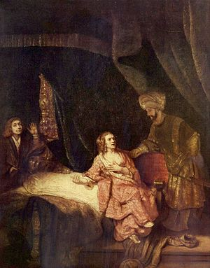 Joseph Accused by Potiphar's Wife, by Rembrand...