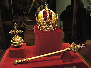 Sceptre and Orb and Imperial crown of Austria ...