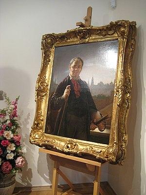 Автопортрет Тропинина на мольберте. Музей Троп...