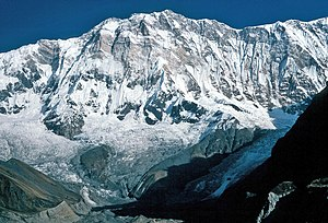 Annapurna I. from about 4500 m Deutsch: Annapu...