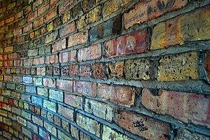Brick wall at Casa Loma in Toronto.