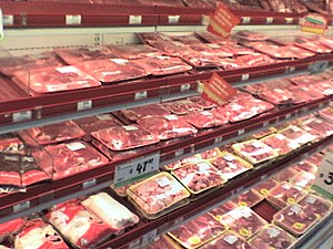 Meat at HEB Torreon