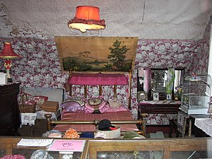 Bedroom in Dolly's House Museum on Creek Stree...