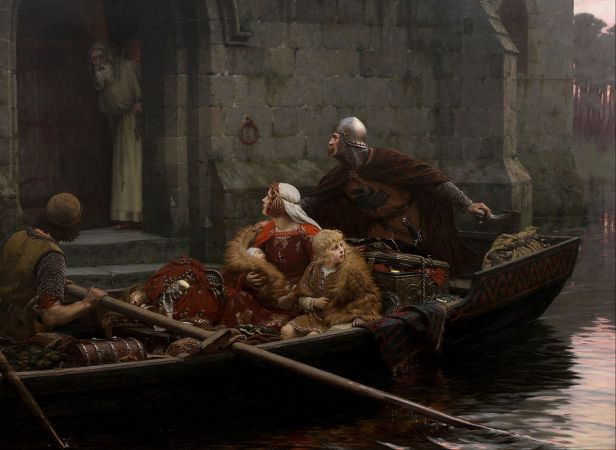 Edmund Blair Leighton - In Time of Peril - Google Art Project
