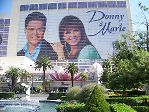 Donny and Marie on the Flamingo Hotel. Las Vegas.
