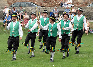 Cotswold-style morris dancing in the grounds o...