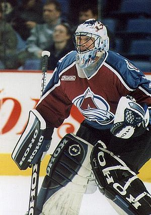 Ice hockey player Patrick Roy Русский: Вратарь...