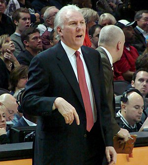 English: Gregg Popovich, head coach of the San...