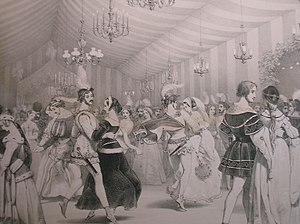 English: The ballroom at Eglinton Castle