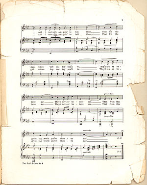 "Sheet music of ""They Didn't Believe Me&qu..."