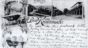 Sights of Bad Kreuznach. Picture postcard, 1891.