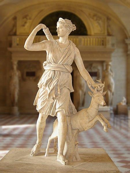 Leochares, Artemida, ok. 350 r. p.n.e., (rzymska kopia rzeźby) (Luwr, Paryż)