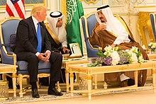 U.S. President Donald Trump with King Salman, Riyadh, 20 May 2017