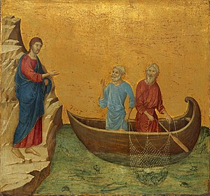 Duccio The Calling of the Apostles Peter and A...
