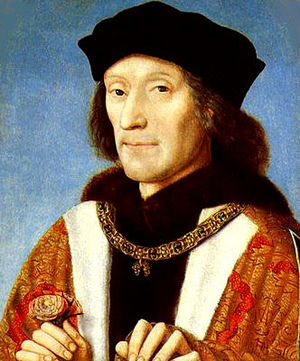 Cropped image of Henry VII