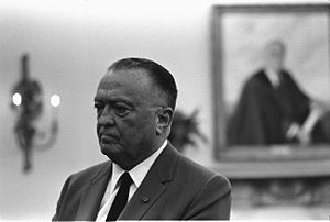 J. Edgar Hoover at Oval Office, White House, W...