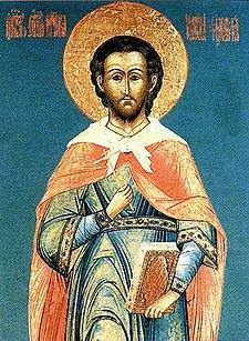 Icona russa di san Giustino