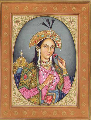 English: This is a Mughal painting depicting M...