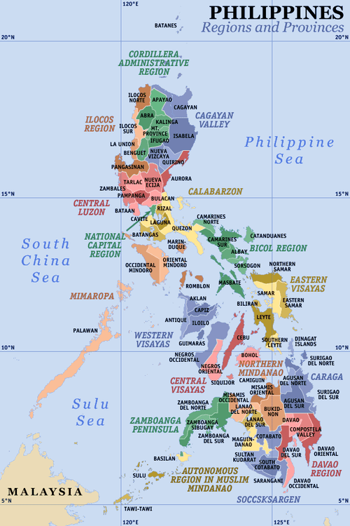 Philippines Political Map | GOVERNMENT Of The PHILIPPINES
