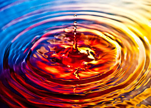 Ripple effect on water.