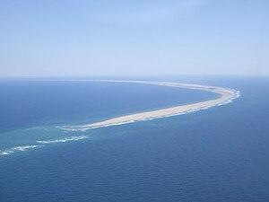 English: Aerial view of Sable Island, Nova Sco...