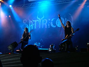 Norwegian black metal band Satyricon at the Me...