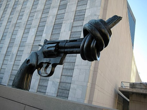 """The Knotted Gun"" by Carl Fredrik Reuterswärd"