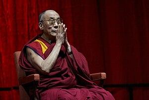 English: The 14th Dalai Lama, Tenzin Gyatso in...