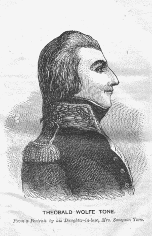 Wolfe Tone circa 1794. Tone is considered by m...