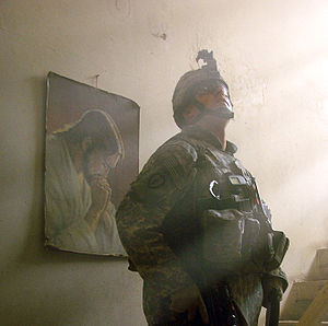 A U.S. Soldier from the Nemesis troop, 3rd Squ...