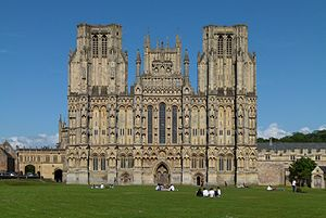 English: Cathedral in Wells, South England